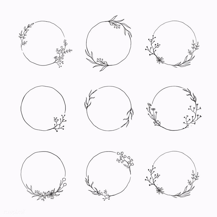 Download premium vector of Round floral frame element vector set 935745