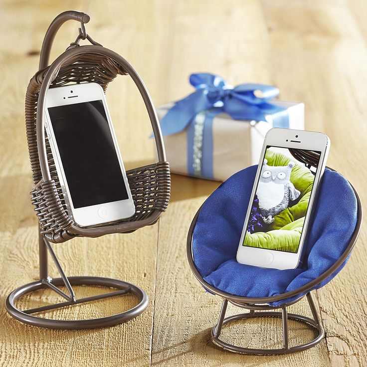 Your phone seems a little stressed. Let it unwind in a Swingasan® or Papasan holder. SO ADORABLE!!