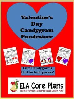 FREE Valentine's Day Candy Gram Fundraiser!  Great for Middle School or High School! Teacher-Written Lesson Plans to Reinforce Common Core State Standards | ELA Core Plans