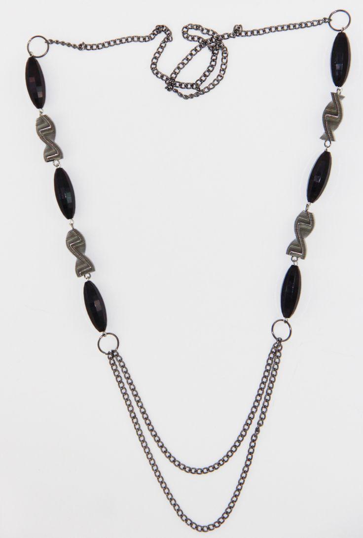 Black-Siyah Kolye 55 cm uzunlugunda. www.suanyemoda.com