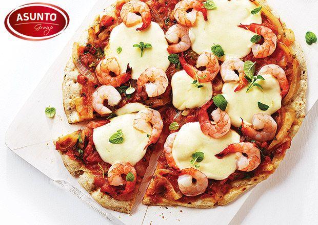 """Brak pomysłu na wieczór ??? 😄💚💥 eeeeee tam 😄 Ciasto w kulce do Pizzy Best Bakery + Krewetki Lilly Planet + kilka plasterków mozzarelli i mamy jak to mówił mój sympatyczny kolega """"PICCUCHA"""" gotowa💚💚💚 a to zajmie Wam 15 - 20 minut 💥  😄💚💨💨💨 Stefan 😄 #pizza #asunto #bestbakery #myfood #ciastodopizzy #ciastodopizzywkulce #pizzacorleone #pizzeria #lillyplanet #krewetki #przepisy"""