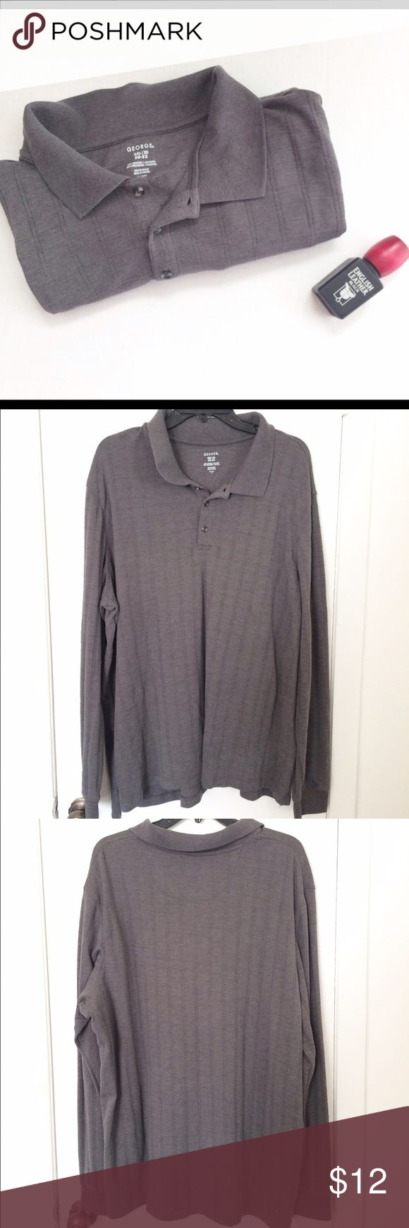 Men's Long Sleeve Henley Shirt Men's Long Sleeve Henley Shirt. In a size 2X. The color is a medium Gray. Has been worn a couple of times but is in Excellent Condition. Price is negotiable so make me an offer!👍🏻 Thank You.☺ ❌No Trades❌ Shirts Tees - Short Sleeve