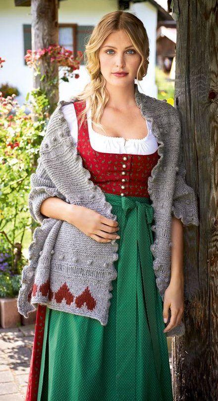 Lana Grossa Tuch Mit Herzen Royal Tweed Filati Trachten No 4