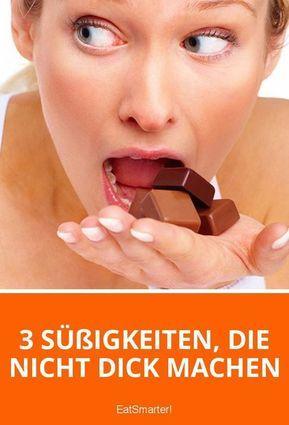 3 Süßigkeiten, die nicht dick machen