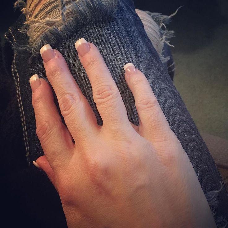 Nails on point! (I missed getting my nails done...so happy I splurged a little today!) #nails #nailart #pinkandwhitenails #frenchmanicure #feelinggirly #treatyoself #pampered