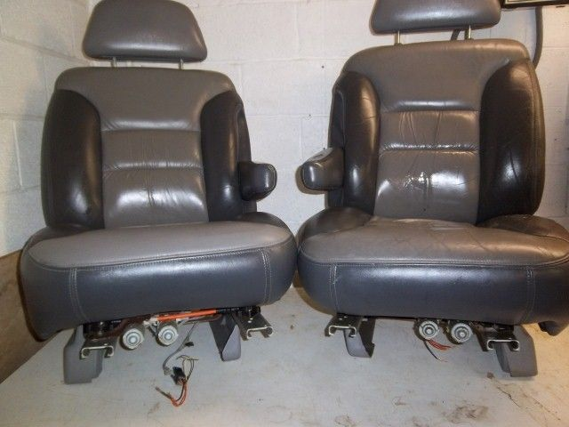1995,1996,1997,1998,1999 ,2000 Gmc Yukon Denali  driver and passenger leather Bucket Seats -   power  driver's  seat motor and  passenger side power Seat motor.1995-1999 Chevy tahoe,yukon ,suburban used front leather seats,seat tracks,seat motors