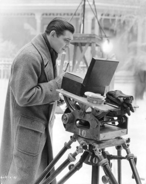 Clark Gable on set, February 1932.