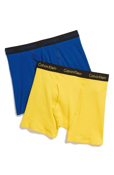 Calvin Klein Boxer Briefs (2-Pack) (Little Boys & Big Boys) available at #Nordstrom