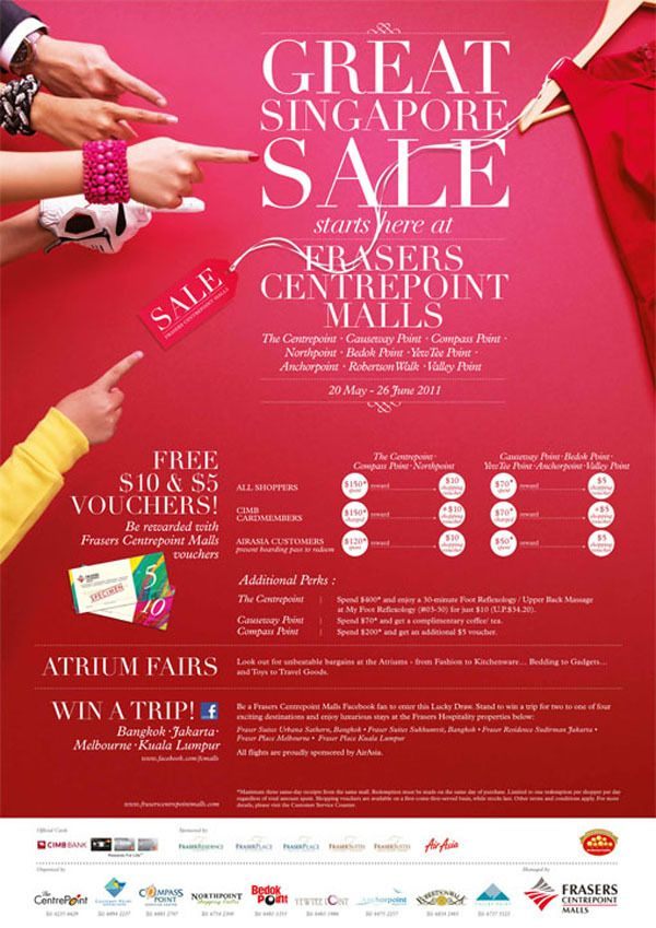 Great Singapore Sale 2011 by Michael Sng Woei Shyong , via Behance