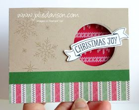 Julie's Stamping Spot -- Stampin' Up! Project Ideas by Julie Davison: Around the World Blog Hop: Holiday Catalog Projects