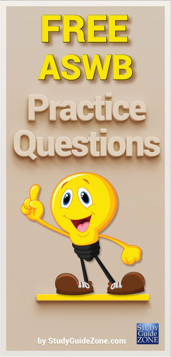 Get free ASWB practice questions and study tips to help you prep for the ASWB…