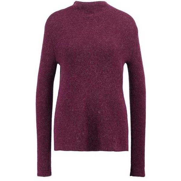 Calvin Klein Jeans SANDY Jumper ($155) ❤ liked on Polyvore featuring tops, sweaters, calvin klein sweater, purple jumper, calvin klein, purple top and purple sweater