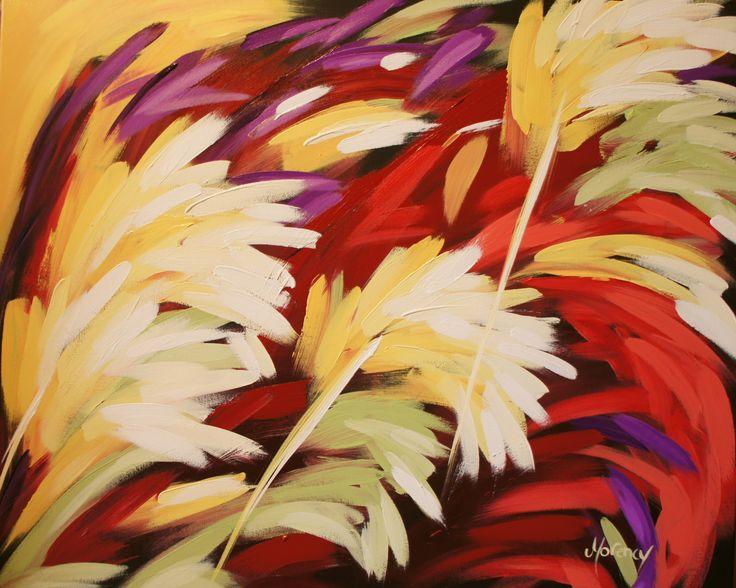 Le chant du coq, acrylique de l'artiste Christine Morency