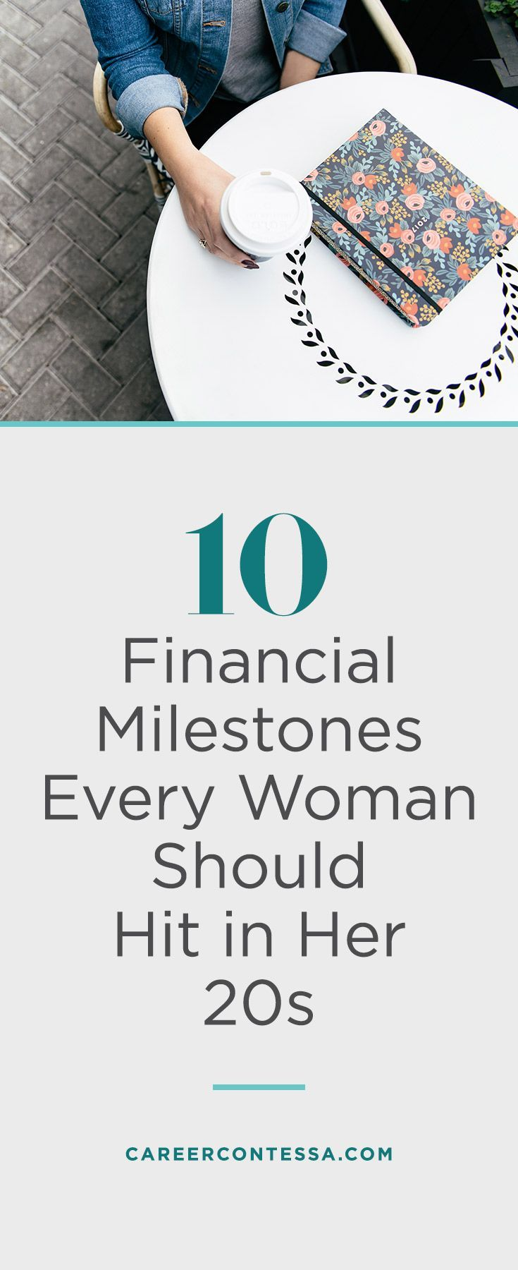 The time is now, 20-something. Use this finance-savvy checklist to start your 30s on the right note. When you're in your 20s and managing expenses on a tightbudget, major life changes (moves, new jobs, dating, maybe even marriage), and professional instability, it's easy to get overwhelmed by personal finances. Get on the right track by using these 10 milestones to check your progress as you journey toward 30. | Career Contessa #FinanceQuotes
