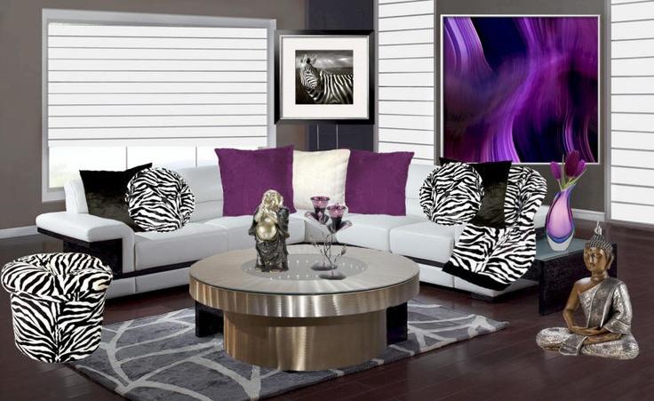 Zebra zebra pillows living room interior modern living rooms living
