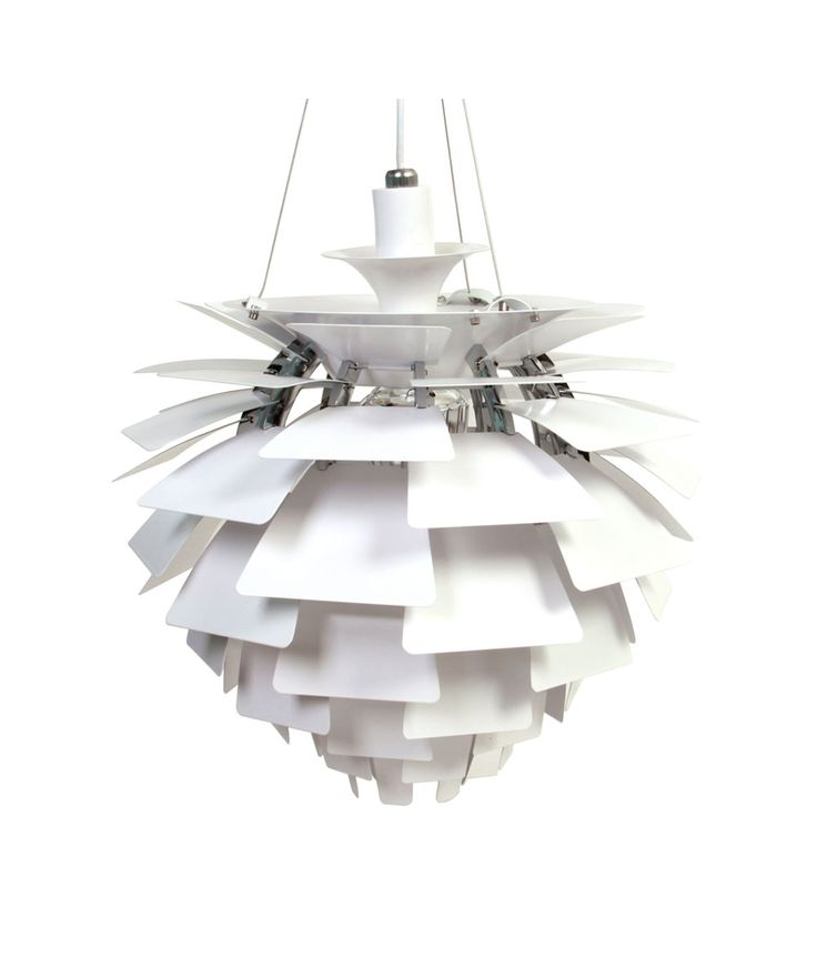 Poul Henningsen Artichoke Light 45cm Replica White Matt Blatt In 2019 Small Pendant Lights Pendant Lighting Ceiling Lamp