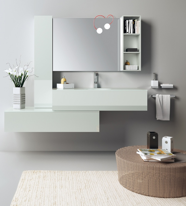 Font Collection | The #bathroom according to Scavolini | Ice |