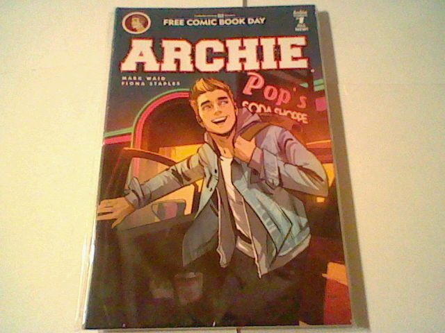 3 copies of Archie #1 , New FCBD 2016 Free Comic Book Day ,unstamped,Mark Waid