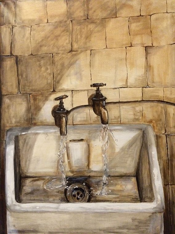 Water Shortage, original oil painting by Kendrea Rhodes