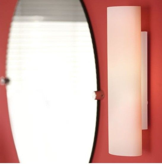 Απλίκα - φωτιστικό τοίχου μπάνιου με βάση από ατσάλι και γυαλί οπαλίνα λευκό. ZOLA από την Eglo. ----------------------- Sconce - bathroom wall lamp with steel base and glass in opal white color. #bathroom #bathroomdesign #bathroomcolor #bathroomideas #lighting #lightingdesign #walllamp #eglo #papantoniougr #bathroomgoals #bathroomlighting