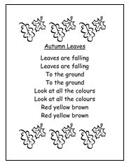 Autumn Leaves - possible circle time song