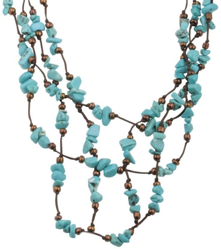 Kette bl te t rkis bijou brigitte online shop basteln pinterest bijoux Bijoux brigitte catalogue