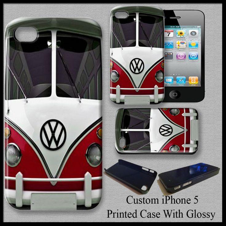 VW Camper Van Red Volkswagen Automobile Cover Case For iPhone 5C Fit