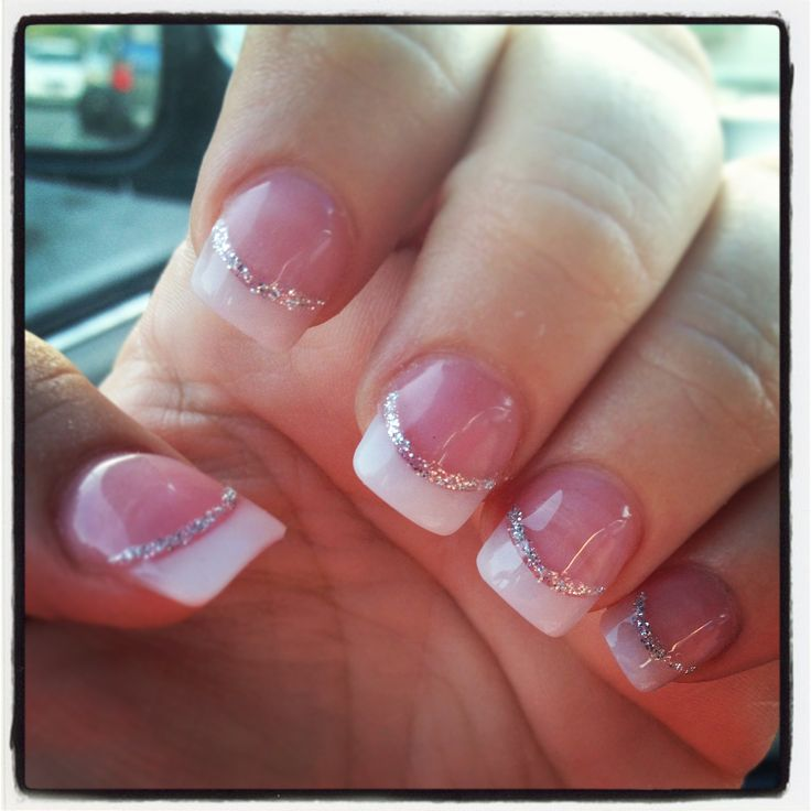 Nail Design With White Tips: Best white tip nails ideas on gold ...
