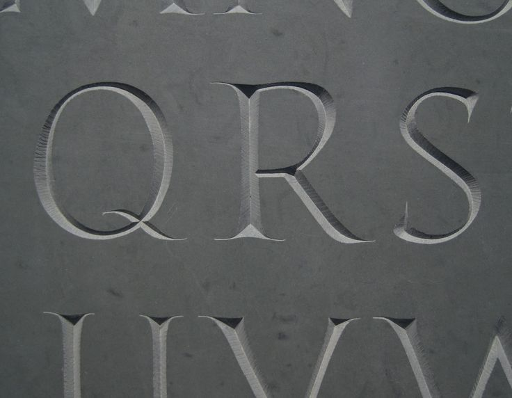 Stone-Cut Letters