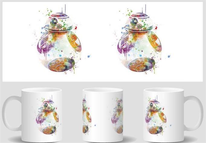 BB-8 star wars mugs Tea art cold hot heat sensitive mug friend gifts transforming mugen heat changing color  #Affiliate
