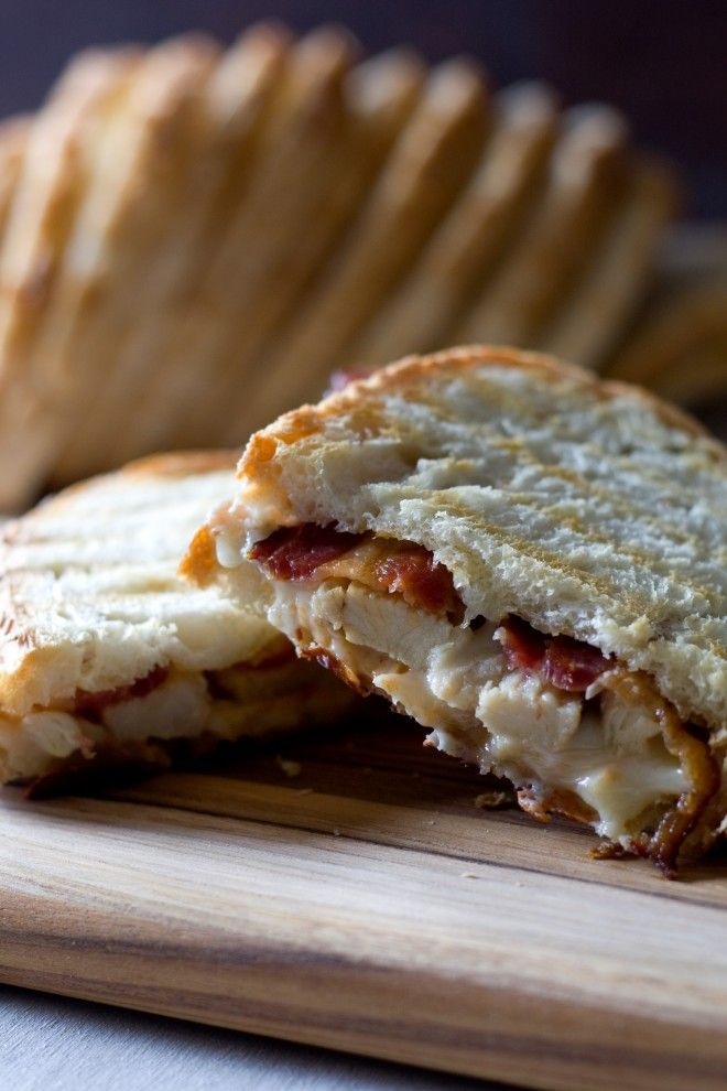 Grilled Chicken Bacon Ranch Panini Sandwich for