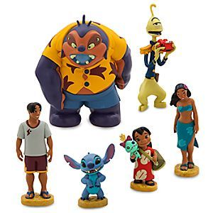 They'll enjoy a tropical vacation in the company of the cast of Disney's 2002 <i>Lilo & Stitch</i>. The movie's two central characters are here along with some locals, and a couple from a little farther away.