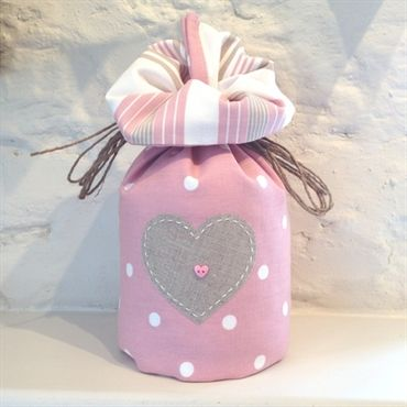Rose Dotty Doorstop with Linen Heart