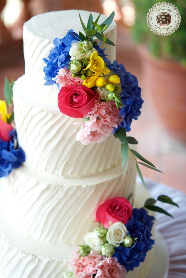 Exotic Summer Wedding Cake