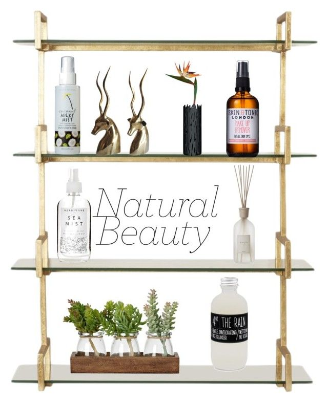 """""""natural beauty"""" by geopaganeli on Polyvore featuring beauty, Herbivore, Skin & Tonic, too cool for school, Belmondo, Culti and Alessi"""