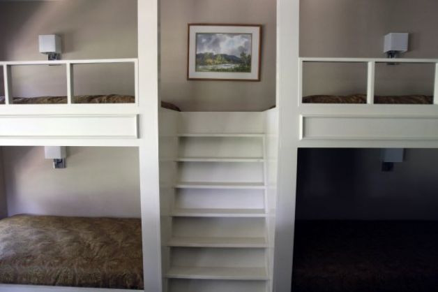 The children's area contains four built-in bunk beds with stairs. (Helen L. Montoya / San Antonio Express-News) / SA
