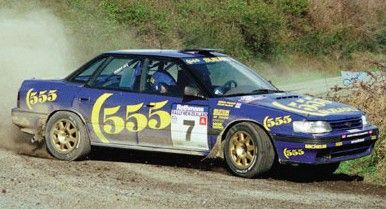 Subaru Legacy rally car
