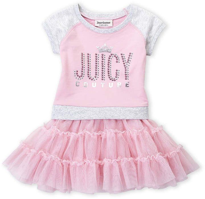 Juicy Couture Toddler Girls Logo Tutu Dress Girls Couture Tutu Dress Toddler Girl
