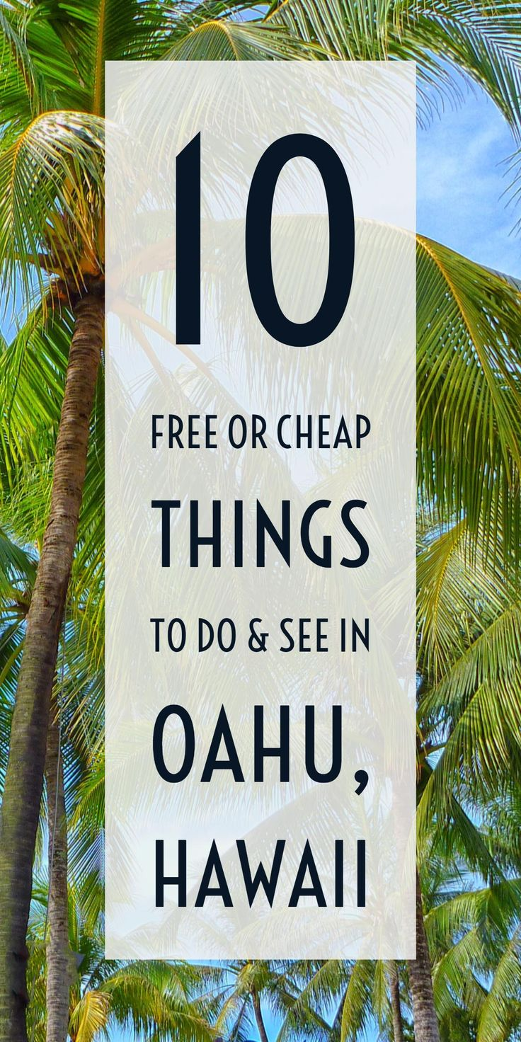 Oahu, Hawaii's best free or cheap attractions and activities