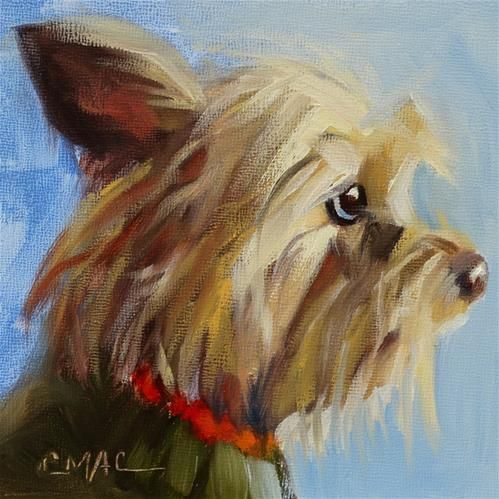 "Daily Paintworks - ""Millie"" - Original Fine Art for Sale - © Carolyn McDonald"