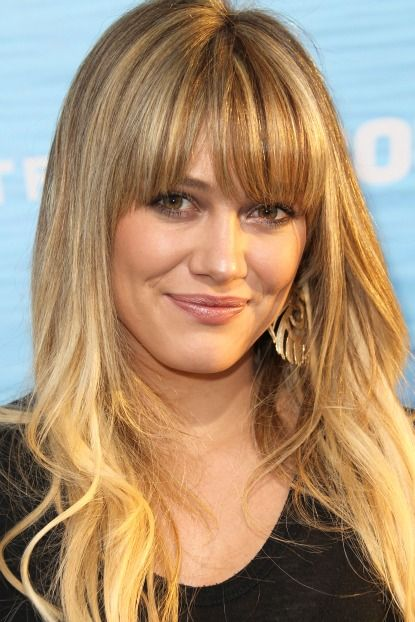 Thinking about bangs -- I like this length and thickness.
