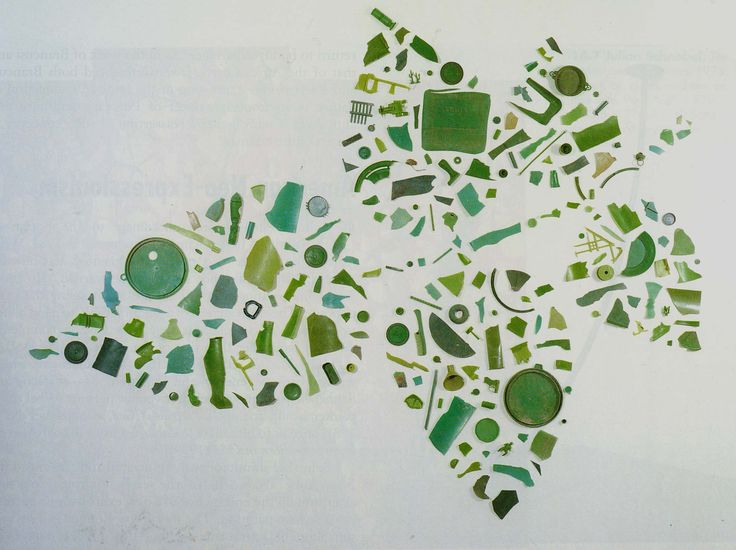 Tony Cragg I like how he has used random objects, that have no relation to the overall sculpture, that are green to represent the fact that it is a leaf
