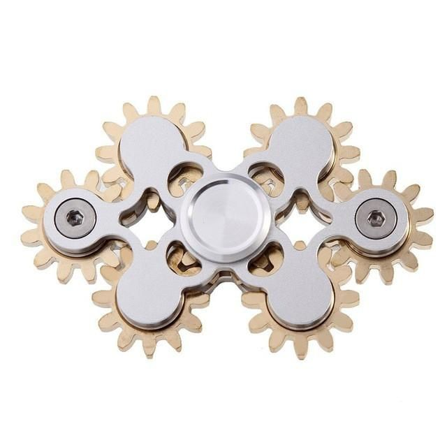 Toothed Gearing Anti Stress Fidget Spinner Metal 2017 EDC Toys Tri Hand Spinner for Autism and ADHD Educational Kids Spiners