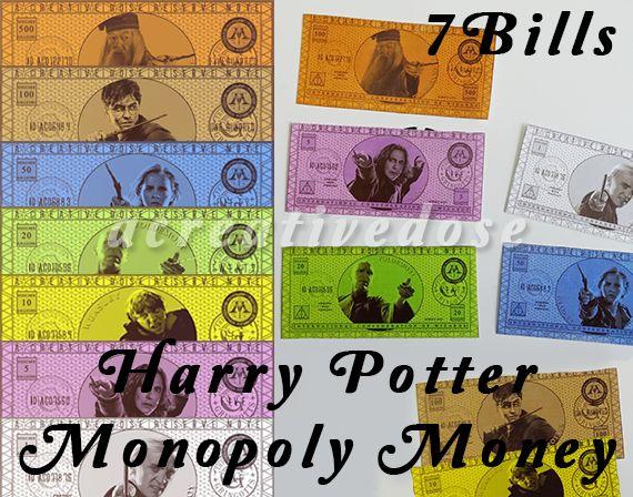 7 Bills For A Diy Harry Potter Monopoly Money Harry