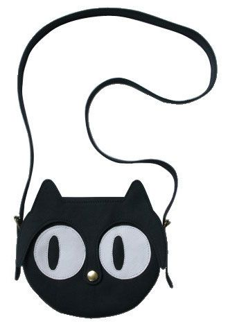 The Black Leather Cat Bag by La Lisette