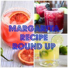 Margarita Recipe Round Up!  A great collection of delicious Margarita's perfect for Cinco de Mayo! #margarita #cocktaili