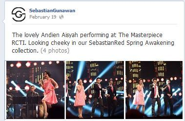 Dress: SEBASTIANred on Andien #RCTI #TheMasterpiece #Singer