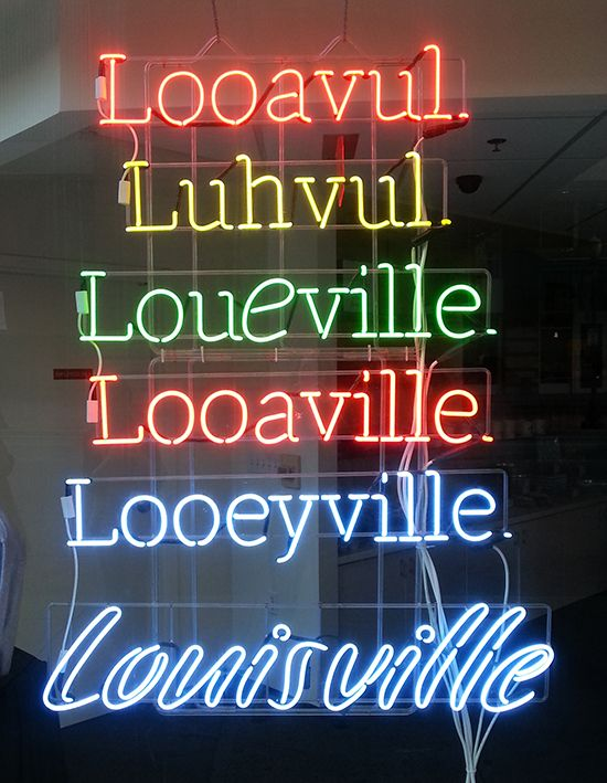 Neon Sign love in Kentucky!
