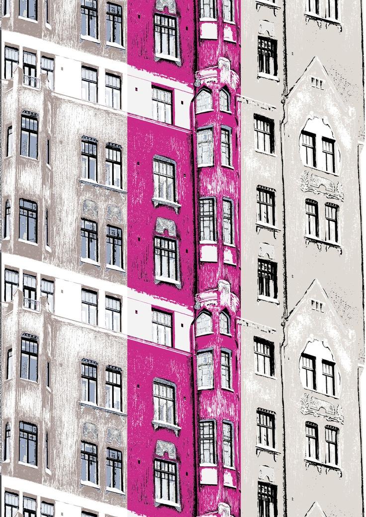 Katajanokka curtain pink 30 Matleena Issakainen Cotton 83%, polyester 17%