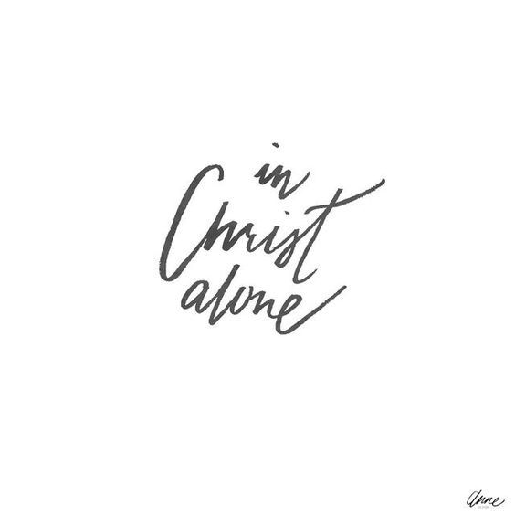 """yourbeautifulmess19: """"In Christ alone My Hope is found He is my light My strength My Song """""""